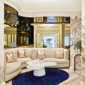 The lounge or bar area at The Beverly Hills Hotel - Dorchester Collection