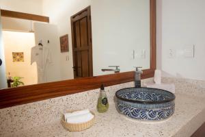 A bathroom at Hotel Posada San Juan