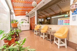 The lounge or bar area at Hotel Inti Killa