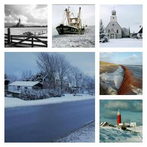 Private Pension Texel Woodart during the winter