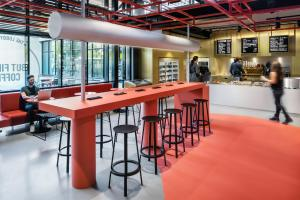 A restaurant or other place to eat at The Student Hotel Amsterdam City