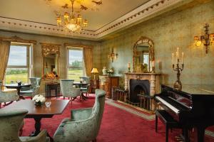 A seating area at Glenlo Abbey Hotel