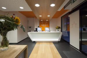The lobby or reception area at easyHotel Brussels City Centre