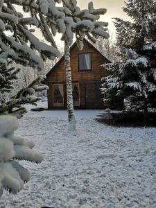 """Brīvdienu māja """"Raudiņi"""" ziemā"""