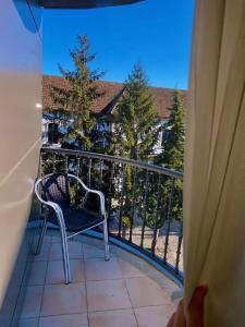 A balcony or terrace at Hotel Condes De Lemos