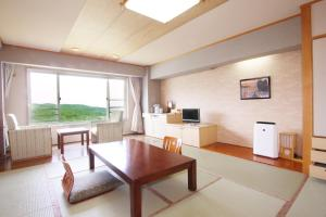 A seating area at Shiretoko Daiichi Hotel