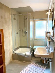 Ein Badezimmer in der Unterkunft Alpvital