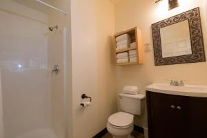 A bathroom at McKinley Creekside Cabins