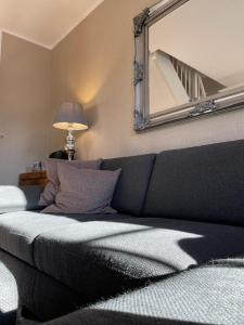 Ein Bett oder Betten in einem Zimmer der Unterkunft Luxus Ferienwohnung schöne Aussicht