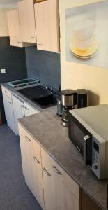 Küche/Küchenzeile in der Unterkunft Ferienwohnung Alte Brennerei