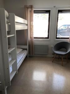 Våningssäng eller våningssängar i ett rum på Gotlands Idrottscenter