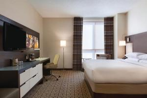 A television and/or entertainment center at DoubleTree by Hilton Hotel Boston - Downtown