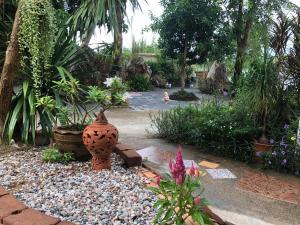 A garden outside Ruen Thai Ban Rim Nam