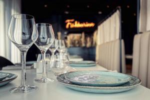En restaurant eller et andet spisested på Hotel Berg by Keflavik Airport