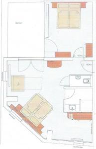 Grundriss der Unterkunft Gästehaus Centro