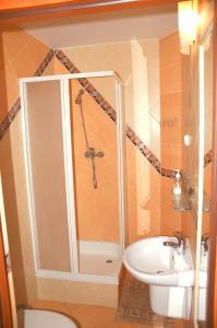 Łazienka w obiekcie Pensjonat u Marysi