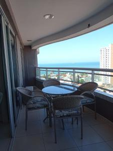 A balcony or terrace at Studio Iracema - APTO 1502