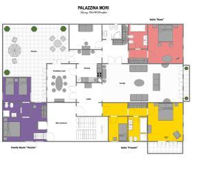 Planimetria di Palazzina Mori - Luxury B&B