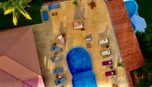 A view of the pool at Pink Flamingo or nearby