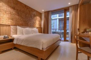 Postel nebo postele na pokoji v ubytování Minh House
