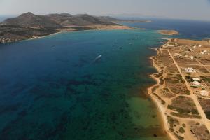 A bird's-eye view of Studios Antiparos Beach