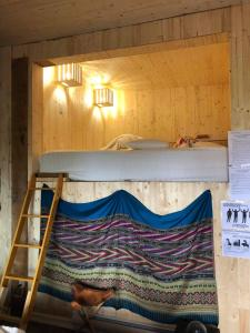 A bunk bed or bunk beds in a room at Gite du Lac à la tortue