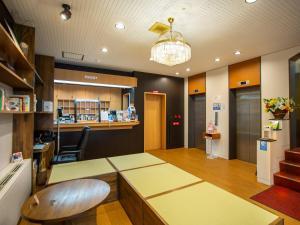 The lobby or reception area at Kaneyoshi Ryokan