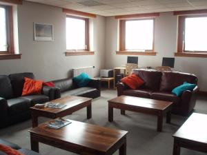 A seating area at Stirling Youth Hostel