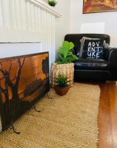 A seating area at Bendigo Backpackers
