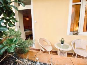 Patio lub wspólna przestrzeń na świeżym powietrzu w obiekcie Sopot Spa Apartment