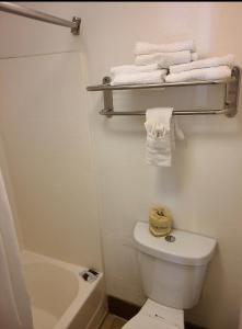 A bathroom at Windsor Inn Lake Havasu City