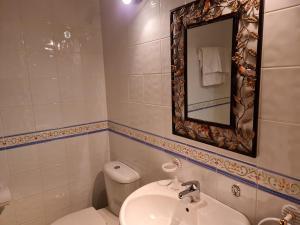 A bathroom at POSADA LAS MOZAS