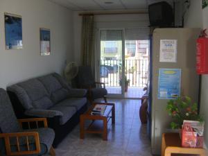 A seating area at Pensión Egea II
