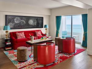A seating area at Faena Hotel Miami Beach