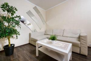 Гостиная зона в Apartment Hanaka on Bratskaya 23