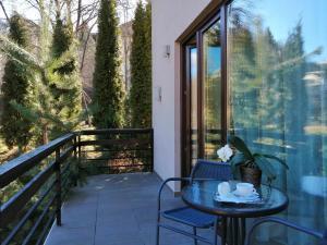 Un balcon sau o terasă la Pensiunea GreenHill