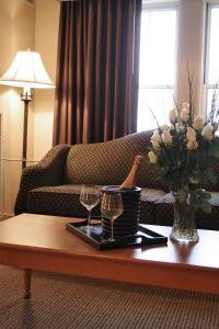 A seating area at Ambassador Hotel