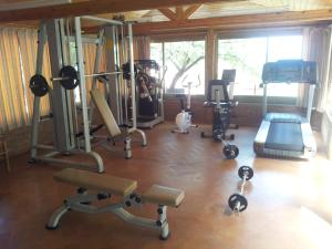 Het fitnesscentrum en/of fitnessfaciliteiten van Hotel Villa Belvedere