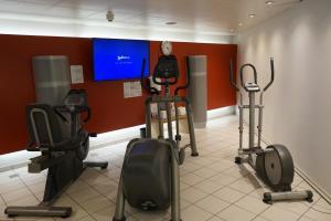 Das Fitnesscenter und/oder die Fitnesseinrichtungen in der Unterkunft Radisson Blu Hotel, St. Gallen
