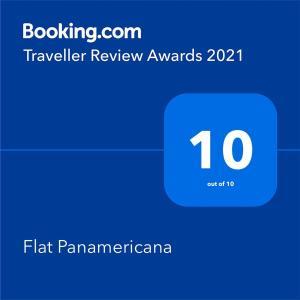 Ein Zertifikat, Auszeichnung, Logo oder anderes Dokument, das in der Unterkunft Apartment Panamericana ausgestellt ist