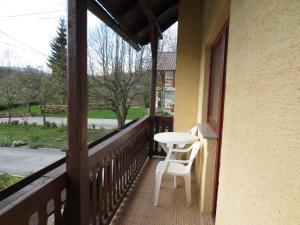 Balkón nebo terasa v ubytování House Katja