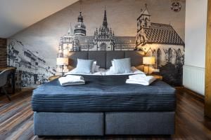 Posteľ alebo postele v izbe v ubytovaní Boutique Penzion Slovakia & Slovakia Residence