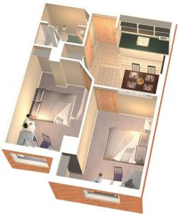The floor plan of Residence & Conference Centre - Oakville
