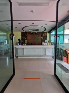 The lobby or reception area at Baan Nilrath Hotel