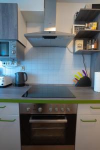 Küche/Küchenzeile in der Unterkunft Fewo Reutlingen Metzstraße OG 1
