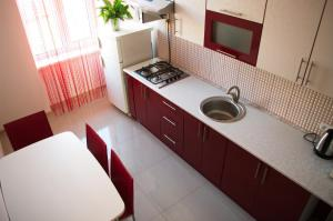 A kitchen or kitchenette at Ratusha Apartments
