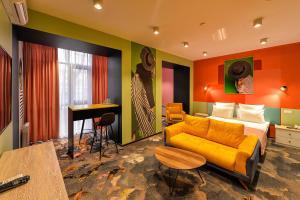 A seating area at Hotel VILLA de IDALGO