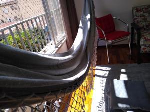 A balcony or terrace at Ensolarado ao lado do shopping com garagem e Wifi