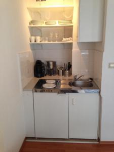 Küche/Küchenzeile in der Unterkunft Ferienwohnung im Herzen von Bremen