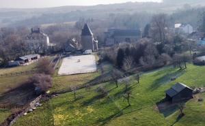Vue panoramique sur l'établissement Les Confidences de Messire Sanglier, stylished guest houses